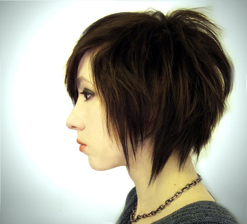 Edgy Emo Short Bob Haircuts