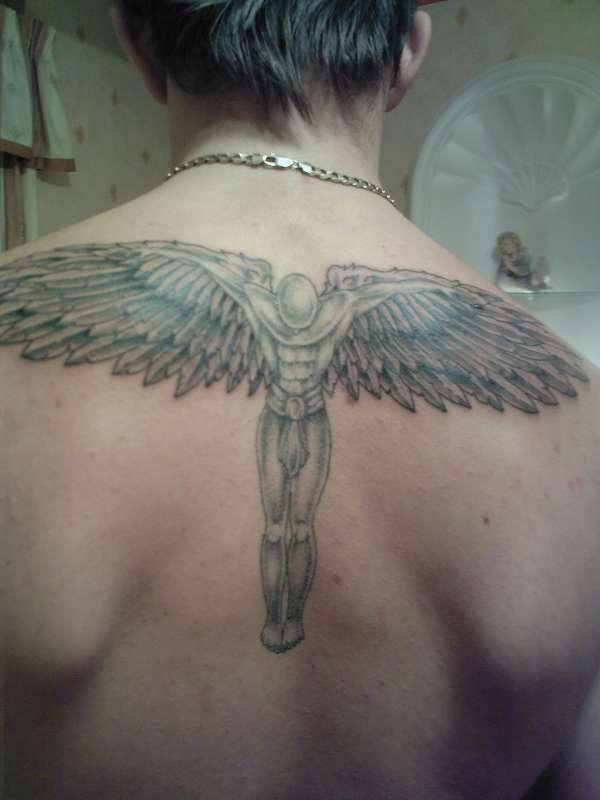 24 spiritually most powerful angel tattoos entertainmentmesh. Black Bedroom Furniture Sets. Home Design Ideas