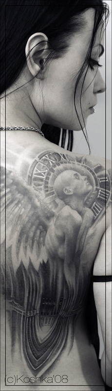 Angel Black Tattoo
