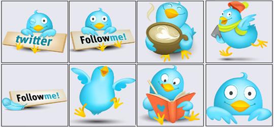 2 Twitter Icon Set