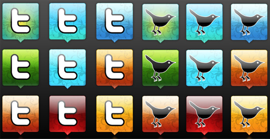 26 Twitter Icon Set