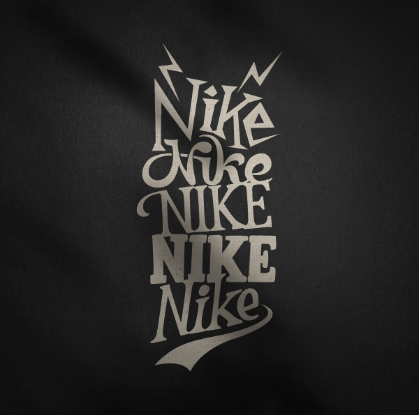 Calligraphy print t shirts design for nike
