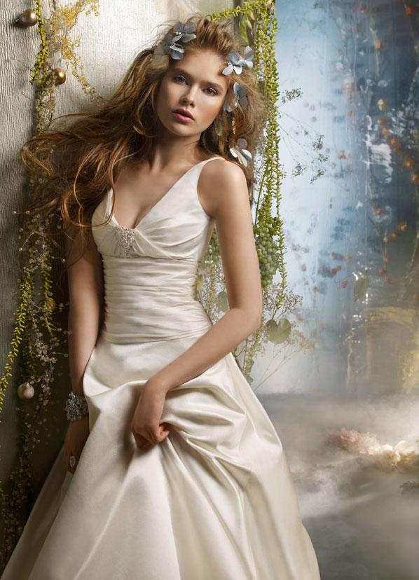 Tara Keely Bridal Silk Shantung Ball Gown Chapel Train U