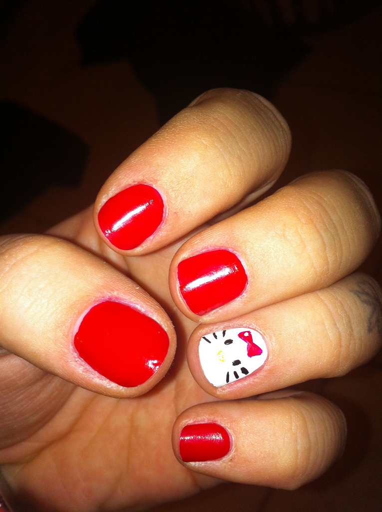 Hello Kitty Toe Nail Art Designs The Best Inspiration For Design