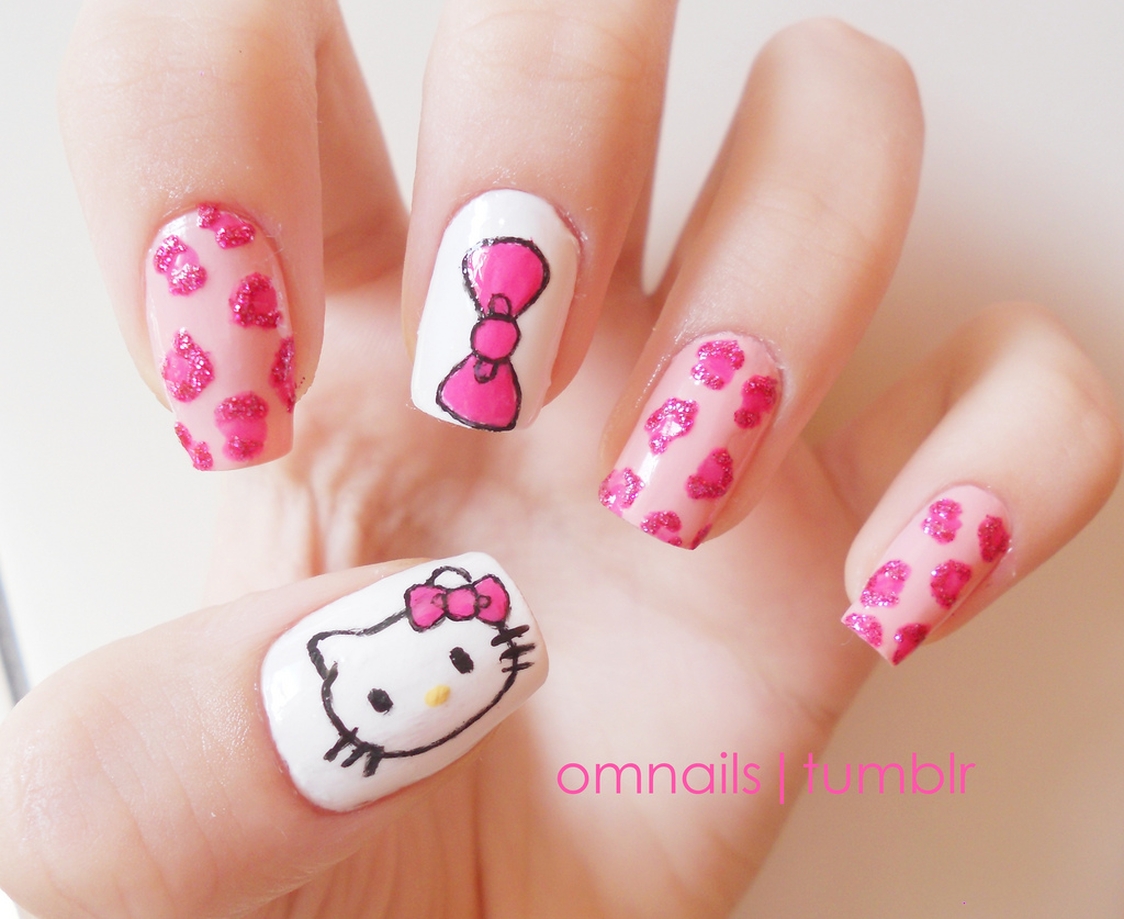 Hello Kitty Nail Art Design Ideas | EntertainmentMesh