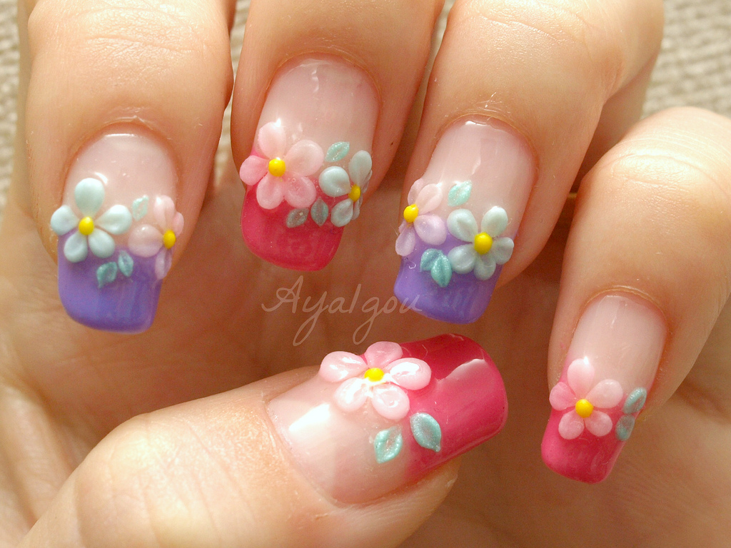 30 Beautiful 3d Nail Art Design Ideas Entertainmentmesh Water Nail Art