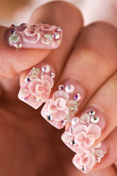 30 Beautiful 3D Nail Art Design Ideas