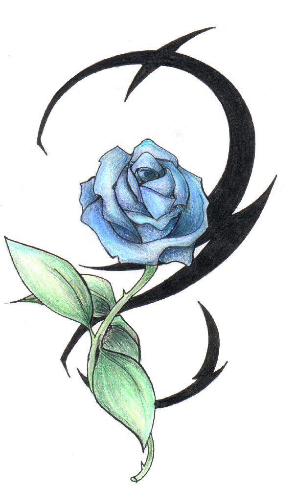 Tribal Rose Tattoo Design