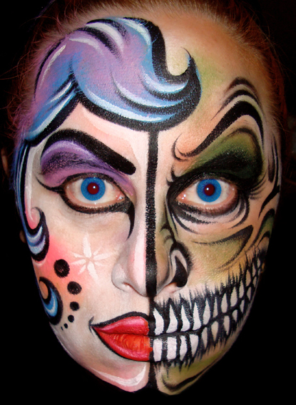 20+ Cool and Scary Halloween Face Painting Ideas - Cool Halloween Face Paint Ideas