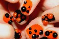 Halloween Bubble nail art