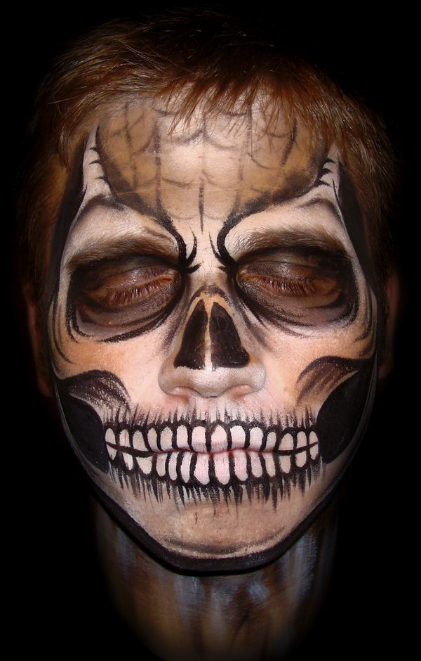 Gallery For &gt Scary Halloween Face Paint Ideas - Cool Halloween Face Paint Ideas