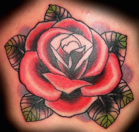 Rose Tattoo By XLennyx Neo Traditional Rose TattooNeo Traditional Rose Flash