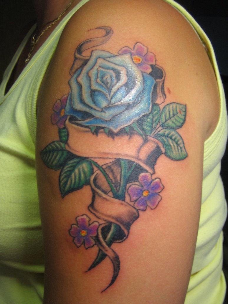 50 beautiful rose tattoo designs entertainmentmesh. Black Bedroom Furniture Sets. Home Design Ideas