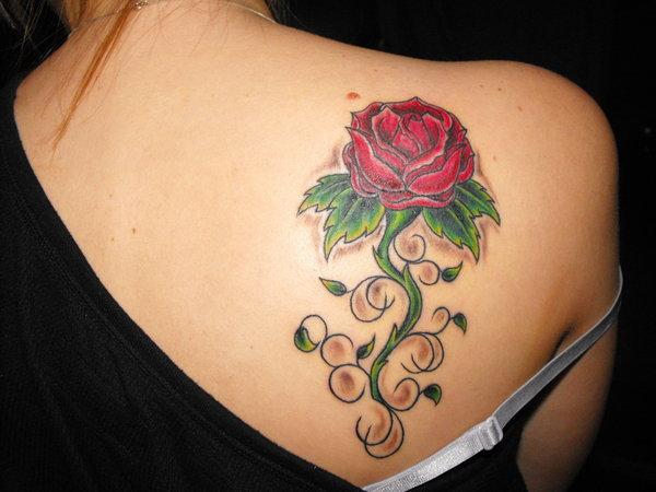 Rose Tattoos On Shoulder