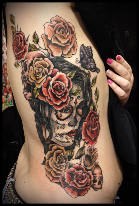 40 day of the dead tattoo designs for inspiration for Day of the dead skull tattoo