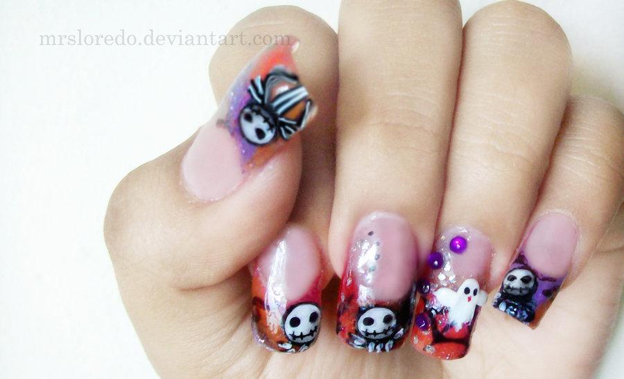 Halloween Jack the Skeleton Nails