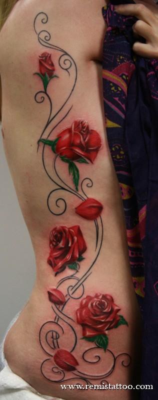 50 Beautiful Rose Tattoo Designs | EntertainmentMesh