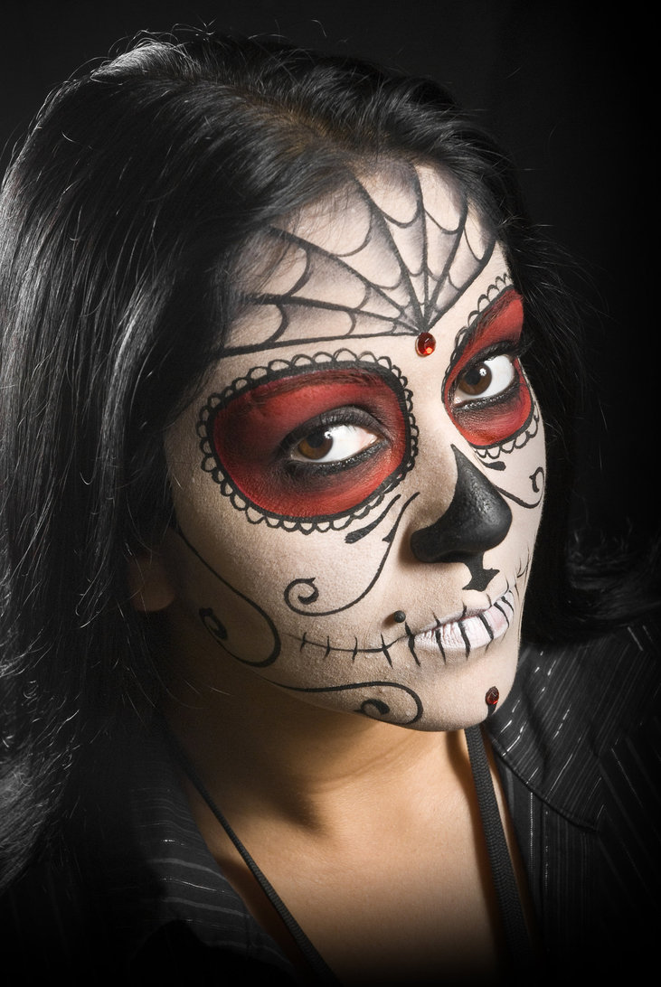 Day of the Dead Face Paint Make Up | EntertainmentMesh