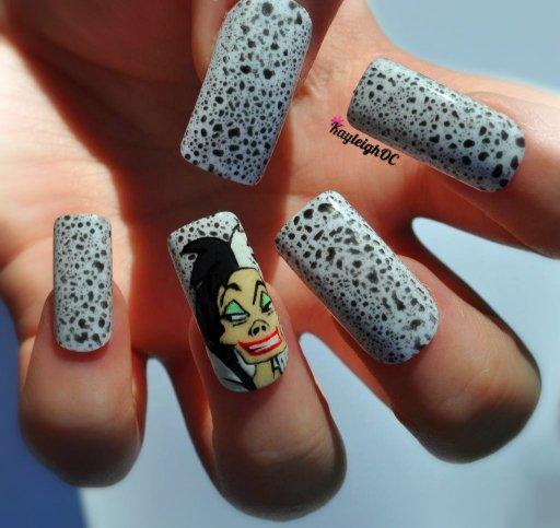 101 Dalmatians - Cruella De Vil Nail Art