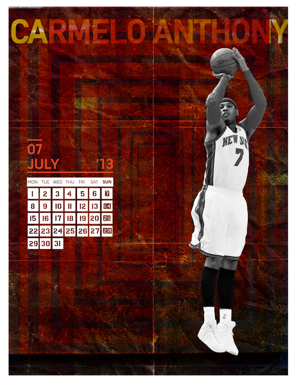 2013 CALENDAR (NBA PLAYERS)