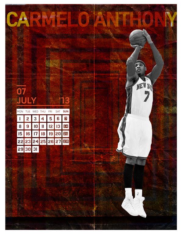 2013 CALENDAR (NBA PLAYERS)