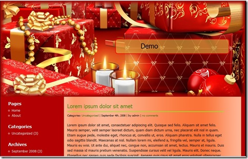 Christmas WordPress Template