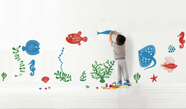 Under Water Scene Wall Sticker