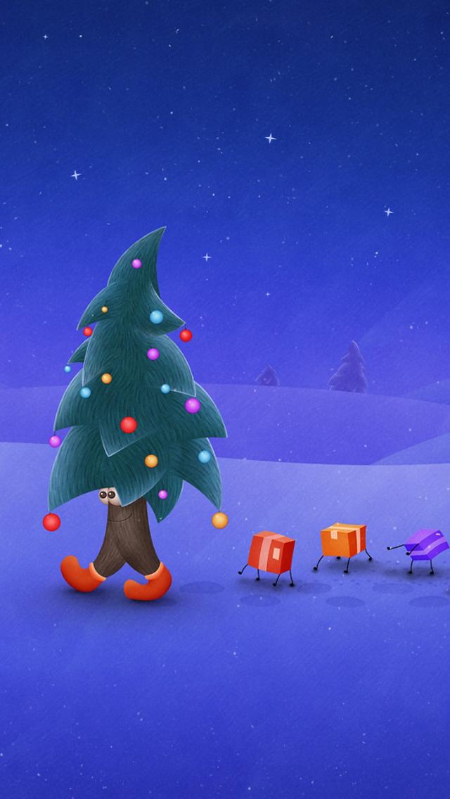 25 joyful and lovely christmas iphone5 wallpapers