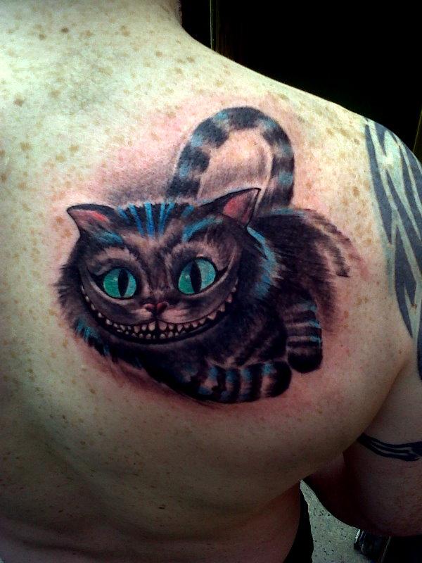 Cheshire Cat Tattoo: 25+ Mad Alice In Wonderland Tattoos