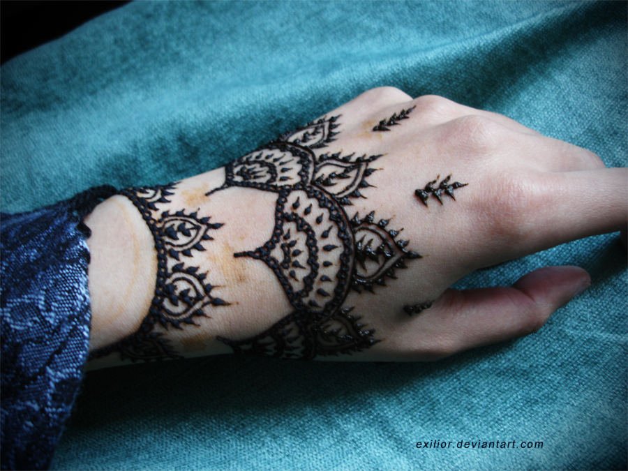 Back Hand Henna Design  EntertainmentMesh