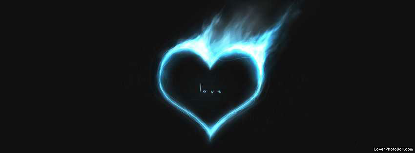 Flaming Heart Facebook Cover