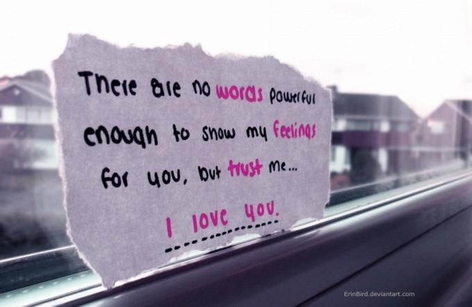 Trust me, I love you