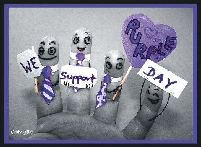 Finger Art: Purple Day