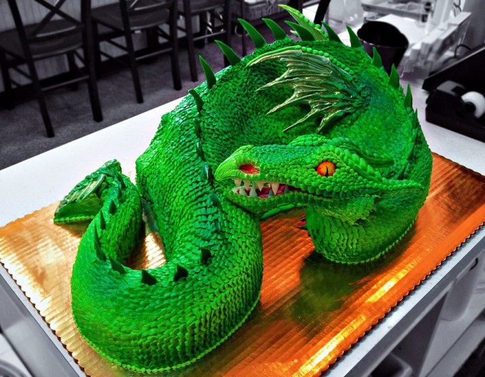 Green Dragon Cake