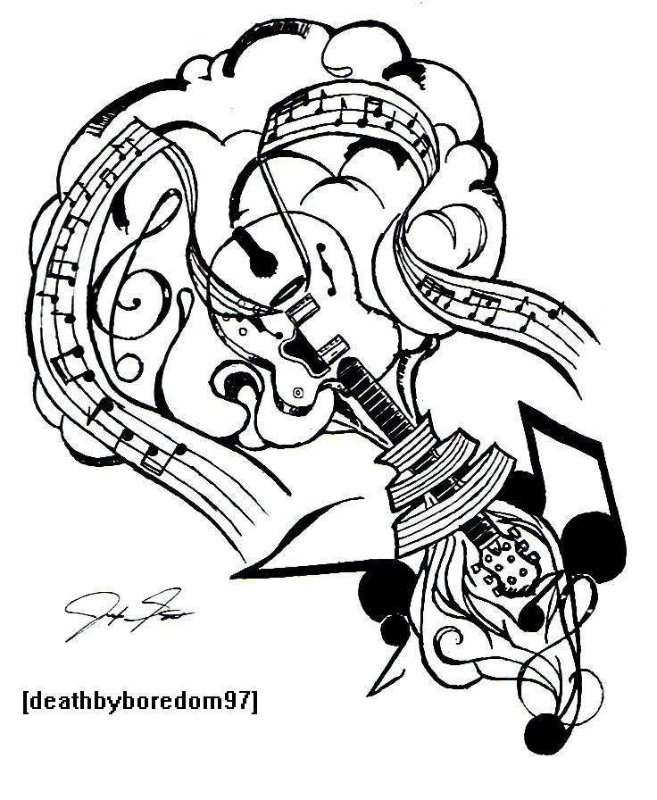 music_tattoo_by_deathbyboredom97 | EntertainmentMesh