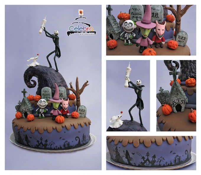Nightmare Before Xmas Cake