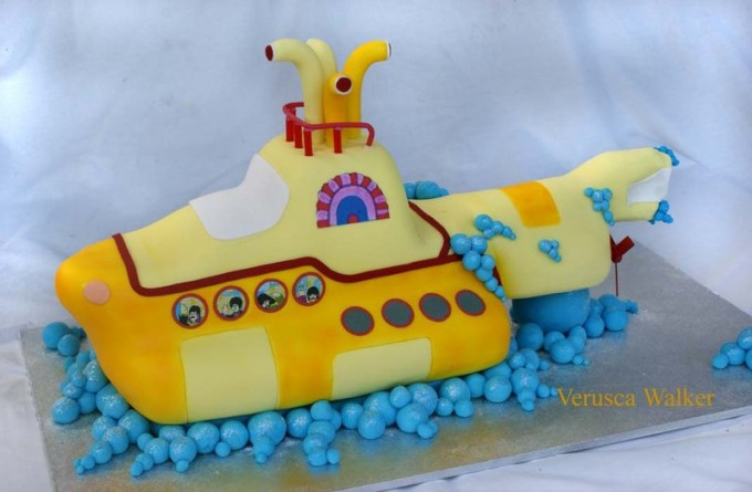 yellow submarine beatles Cakes