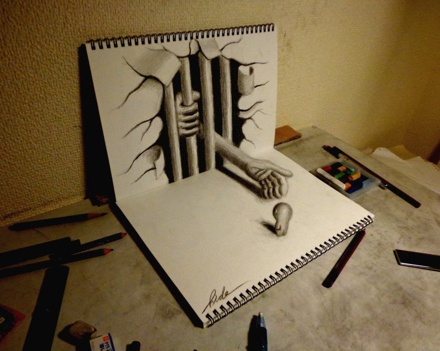 25 super fun 3d drawings on paper entertainmentmesh