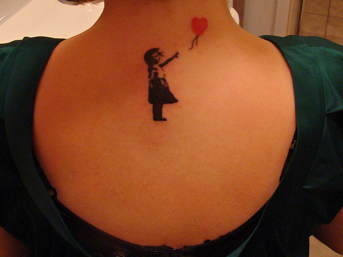 Balloon Banksy Girl