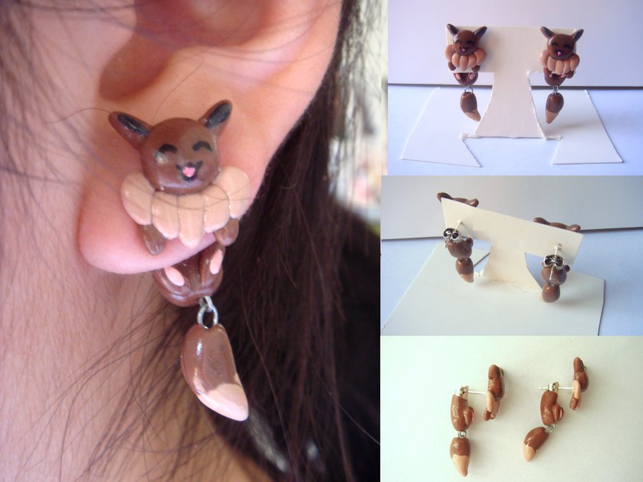 Clinging Eevee Earrings