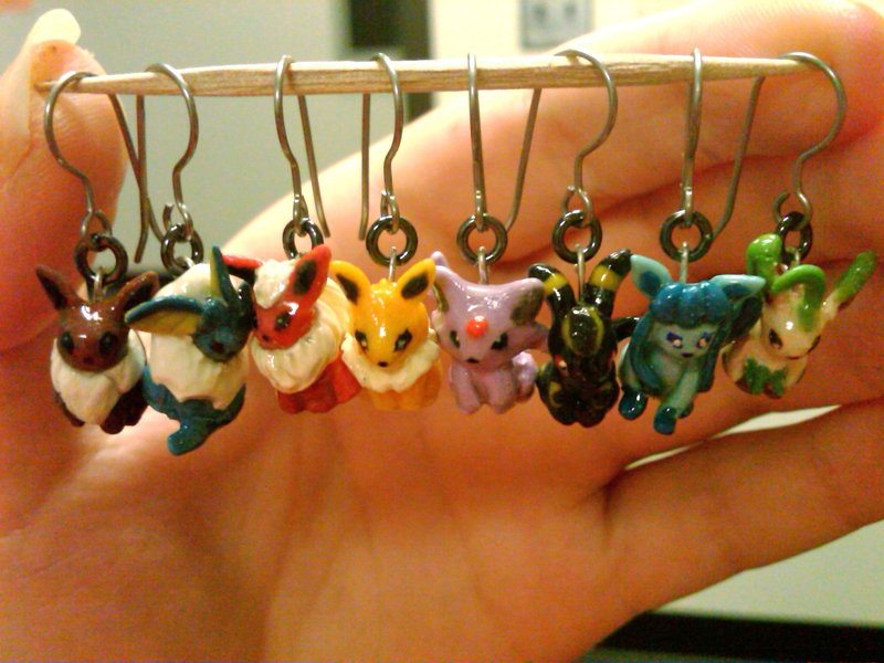 FINISHED Eeveelution Earrings