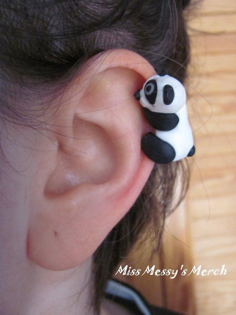 Panda ear cuff