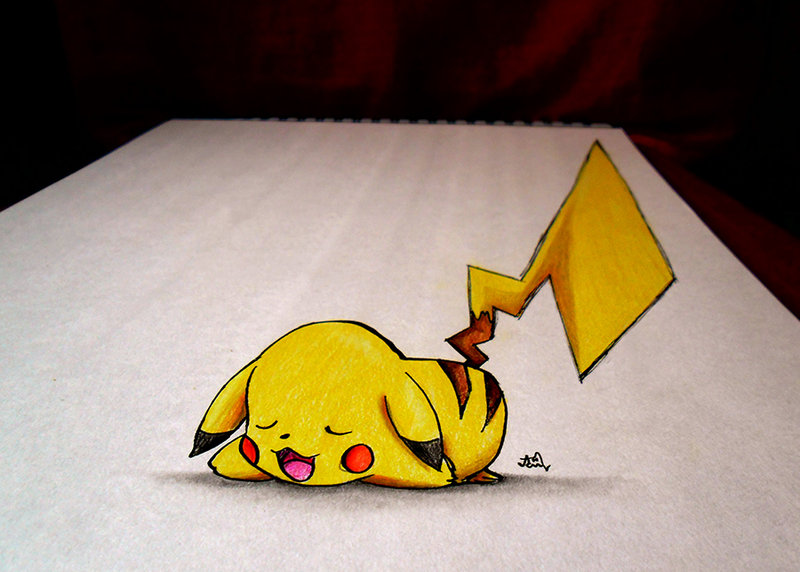 Pikachu - 3D SKETCH + COLOR