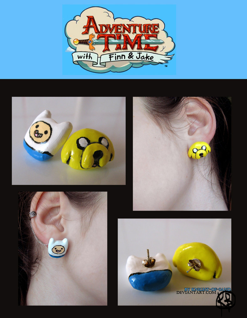 SOLD____Adventure Time Earrings