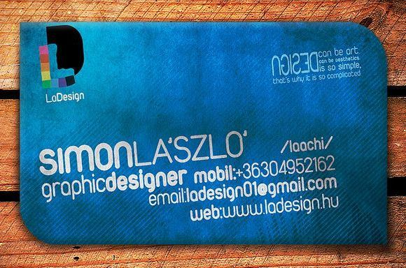 Blue Business Card Design