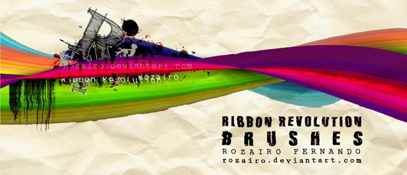 30+ Cool Sets of Free Photoshop Ribbon Brushes