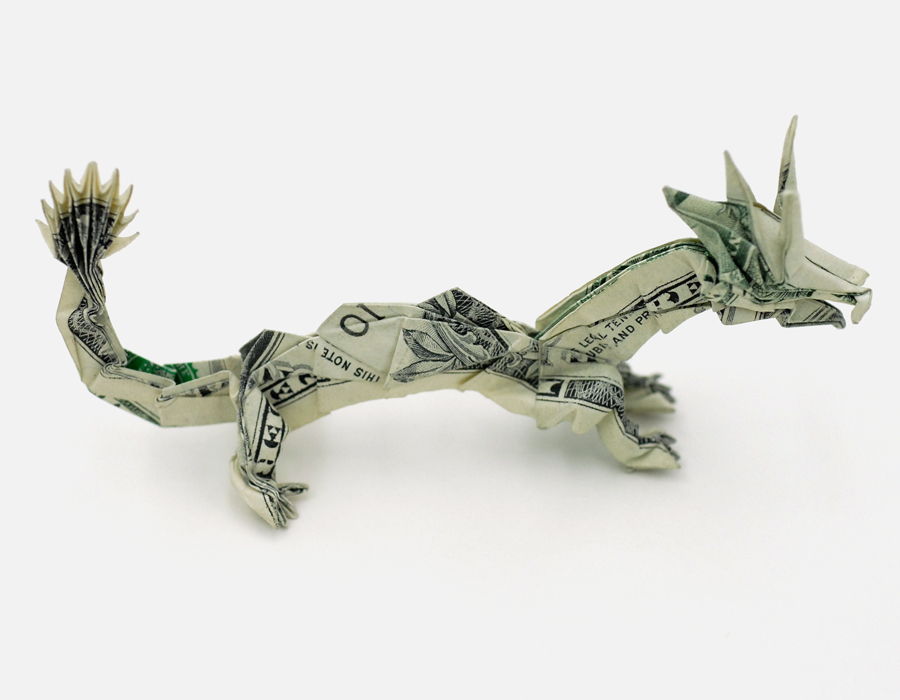 Dollar Bill Origami Butterfly