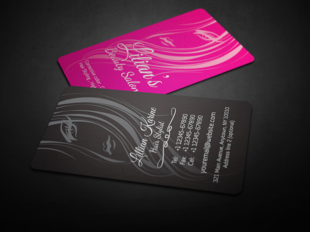 Pics s Hair Beauty Salon Business Card Design