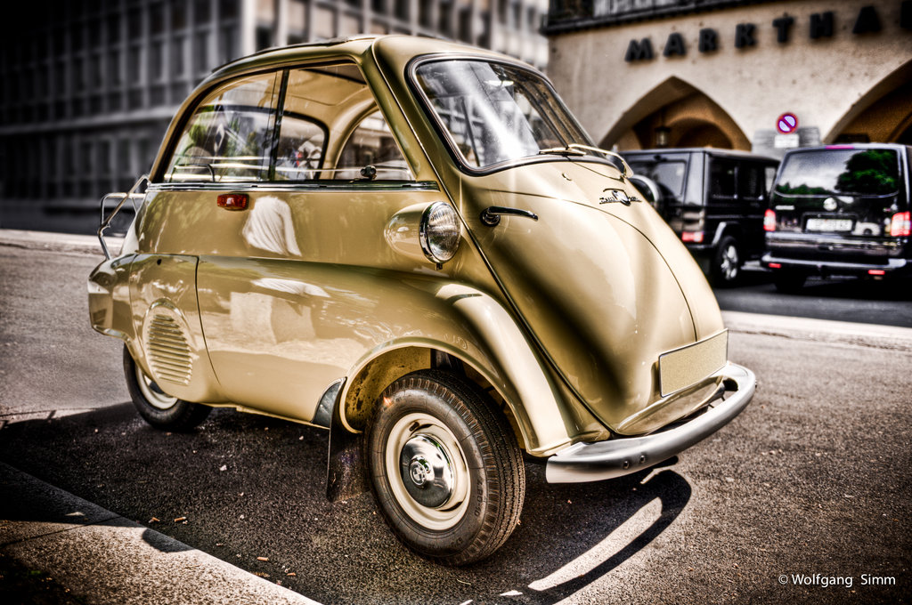 Old BMW Isetta HDR