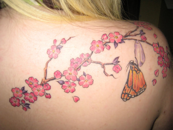 New Cherry Blossom Tattoo